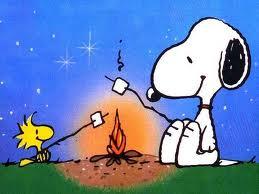 Snoopy at Campfire